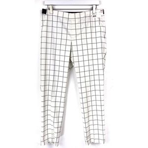 NWT Uniqlo Off White Window Pane Ankle Length Pant